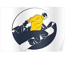 Snowboarding prints Poster