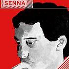 Ayrton Senna Portrait by Melissa Conlon