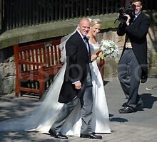 Mike & Zara Departing Canongate Kirk by justbmac