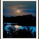 Moon Light Over The Arkansas River by Vince Scaglione