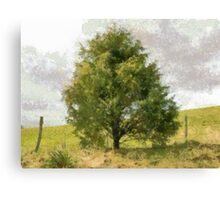 Fence Tree Canvas Print