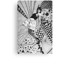 Paper dress collage Canvas Print