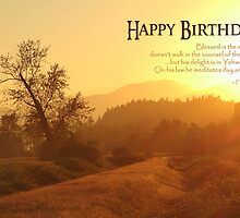 Blessed is the Man - Birthday Card by Tracy Friesen