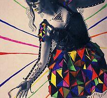 Paper dress collage 2 by Sophie Higgins