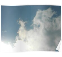 Sunshiny Clouds Poster