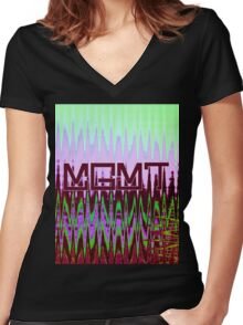 Original MGMT #2 Women's Fitted V-Neck T-Shirt