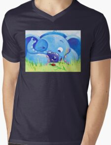 Photographer - Rondy the Elephant with photo camera Mens V-Neck T-Shirt