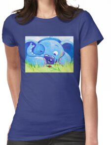 Photographer - Rondy the Elephant with photo camera Womens Fitted T-Shirt