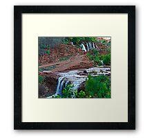Upper and Lower Navajo Falls  Framed Print