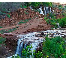 Upper and Lower Navajo Falls  Photographic Print