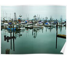 Grays Harbor Boats Poster