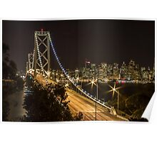 Bay Bridge at Night III Poster