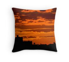Long Beach, NY   Sunset from the Long Beach Dept of Rec  9514 Throw Pillow