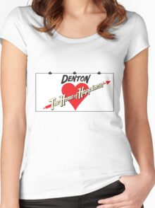 Denton - Home of Happiness Women's Fitted Scoop T-Shirt