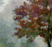 Tree In Lifting Fog Sticker