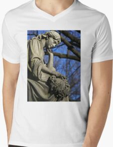 Contemplation Mens V-Neck T-Shirt