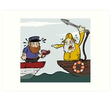 Fisherman and the Whaler Art Print