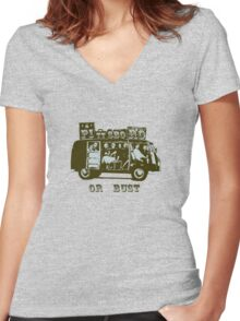 Pittsboro Or Bust! Women's Fitted V-Neck T-Shirt