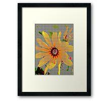 Yellow sunflower design vertical view Framed Print