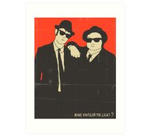 THE BLUES BROTHERS Art Print