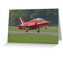 Red Arrow Take Off - Dunsfold 2013 Greeting Card