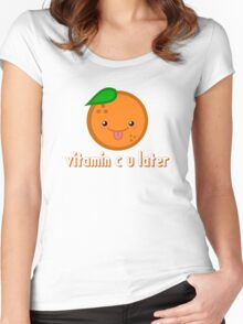 Vitamin C U Later Women's Fitted Scoop T-Shirt