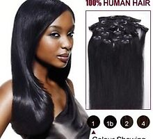 34 inch 9pcs Straight Clip In Human Hair Extensions CLIP69 by lindawang