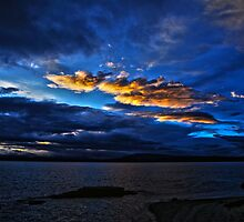 yellowstone lake at sunrise by Terrell Bird