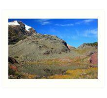 Glaciers and tarns III Art Print