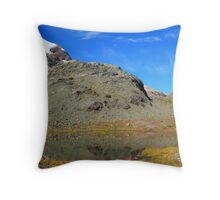 Glaciers and tarns III Throw Pillow