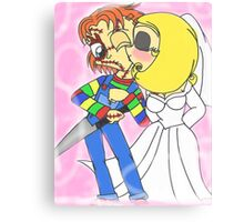 Chibi Chucky and Tiffany Canvas Print