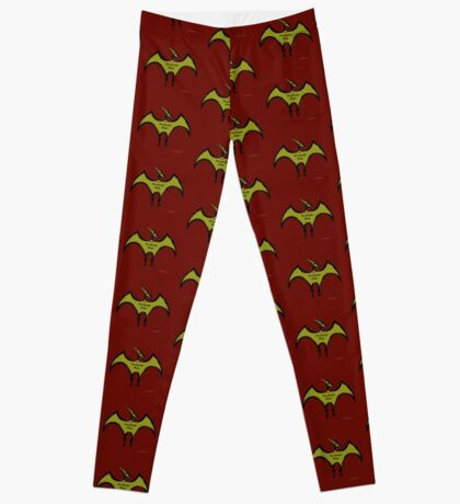 Pterodactyls Reign Red and Green Leggings