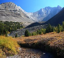 Arethusa creek and peaks by zumi