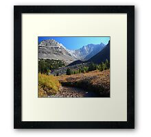 Arethusa creek and peaks Framed Print