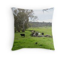 Steers by the Creek & stately old Gum Trees! Rural Angaston. Throw Pillow