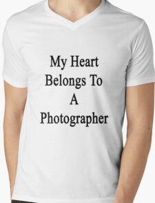 My Heart Belongs To A Photographer  Mens V-Neck T-Shirt