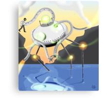 Interpretation of Martian Tripod Canvas Print