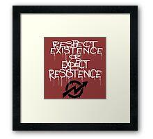 resistance white Framed Print