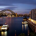 Circular Quay, Twilight. by Cameron B