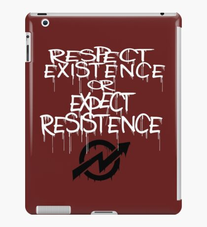 resistance white iPad Case/Skin