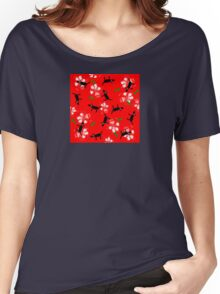 Dogs on Paws Christmas Women's Relaxed Fit T-Shirt