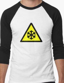 Cold Warning Symbol. Men's Baseball ¾ T-Shirt