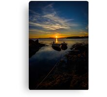 Sunset by the beach Canvas Print