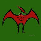 Pterodactyls Reign Green and Cherry by Sarah Curtiss