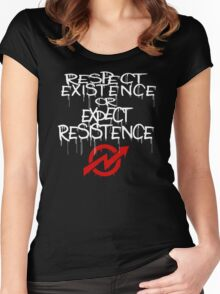 resistance white and red Women's Fitted Scoop T-Shirt