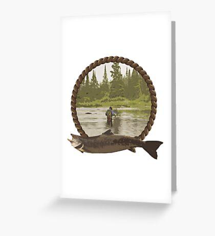Fly Fisherman Greeting Card