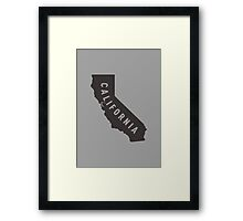 California - My home state Framed Print