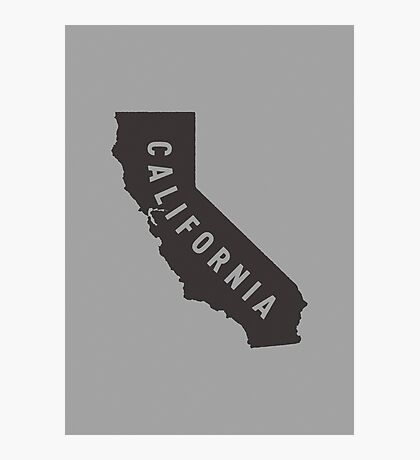 California - My home state Photographic Print