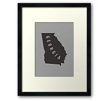 Georgia - My home state Framed Print