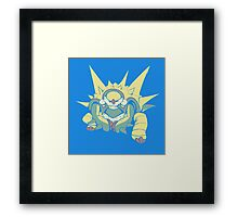 Spikey Shield_Pop Framed Print